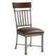 Standard Furniture Hudson Upholstered Side Chair (Set of 2) in Rustic Dark Cherry 13224