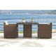Skyline Design Pacific 3 Piece Square Dining Set in JB Chocolate
