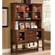John Thomas Furniture Cosmopolitan Server with Hutch in Espresso SVH581-34