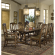 Hekman Havana 7 Piece Rectangular Pedestal Dining Set in Antique