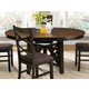 Liberty Furniture Bistro Oval Pedestal Table in Honey/Espresso 74-PT4866
