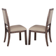 Liberty Furniture Franklin Upholstered Side Chair in Rustic Brown (Set of 2) 202-C6501S