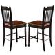 A-America British Isles Slatback Bar Stool in Oak/Black (Set of 2) BRIOB367K