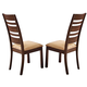 Acme Everest Side Chairs in Walnut 00852 (Set of 2)