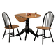 Acme Mason 3 PC Pack Dining Set in Oak and Black 00878