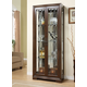 Acme Jordan Curio with Glass Doors in Walnut 01504