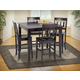 New Classic Abbie 5 Piece Dining Room Set in Espresso Finish 04-0605