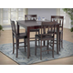 New Classic Abbie 5 Piece Dining Room Set in Bordeaux Finish 04-0640