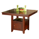 New Classic Brendan Counter Height Dining Table in Espresso 04-0705-012