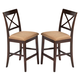 New Classic Crosswinds Counter Height Dining Chair in Cappuccino (Set of 2) 04-1712-020