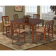 New Classic Tempe 6pc Counter Dining Table Set in Fruitwood 04-1810
