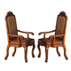 Acme Cotette Arm Chairs in Cherry 04353 (Set of 2)