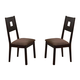 Acme Zenda Side Chairs in Brown 04892 (Set of 2)