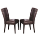 Acme Danville Bycast PVC Side Chairs in Espresso 07054 (Set of 2)