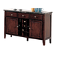Acme Danville 3-Drawer Marble Top Server in Espresso 07057
