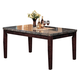 Acme Danville Marble Top Rectangular Dining Table in Espresso 07058