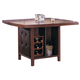 Acme Britney Counter Height Dining Table with Storage Base in Brown 07250