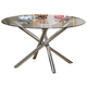 Acme Karely Round Glass Top Dining Table 07965