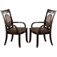 Acme Vienna Dining Arm Chairs in Dark Cherry 08323 (Set of 2)