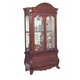 Acme Edison Curio with Glass Doors in Cherry 08373