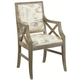 Hammary Hidden Treasures Accent Chair with Script Linen Fabric in Driftwood 090-347