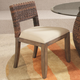 Hammary Hidden Treasures Wooden Base Dining Chair with Wicker Styled Back (Set of 2) 090-418