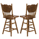 Liberty Furniture Nostalgia 24 Inch Press Back Barstool in Medium Oak Finish 10-B51724 (Set of 2)