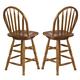 Liberty Furniture Nostalgia 24 Inch Arrow Back Barstool in Medium Oak Finish 10-B55324 (Set of 2)