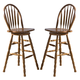 Liberty Furniture Nostalgia 30 Inch Arrow Back Barstool in Medium Oak Finish 10-B55330 (Set of 2)