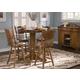 Liberty Furniture Nostalgia 5pc Round Pub Table Set in Medium Oak Finish 10-PUB