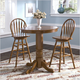 Liberty Furniture Nostalgia 3pc Round Pub Table Set in Medium Oak Finish 10-PUB42