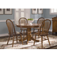 Liberty Furniture Nostalgia 5pc Round Pedestal Table Set in Medium Oak Finish 10-T51
