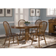 Liberty Furniture Nostalgia 5pc Oval Pedestal Table Set in Medium Oak Finish 10-T52