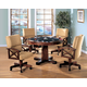 Coaster Marietta 5pc Game Table Set in Dark Brown 100171S