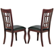 Coaster Newhouse Side Chair in Dark Cherry (Set of 2) 100502