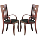 Coaster Newhouse Arm Chair in Dark Cherry (Set of 2) 100503