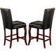 Coaster Newhouse Counter Height Stool with Black Upholstery in Dark Cherry (Set of 2) 100505