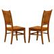 Coaster Marbrisa Side Chair in Medium Brown (Set of 2) 100622