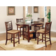 Coaster Lavon 5pc Dining Set in Dark Cherry 100888NS