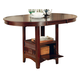 Coaster Furniture Lavon Counter Height Table in Dark Cherry 100888N