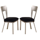 Acme Camille Metal Side Chairs with Cut-out Back 10093 (Set of 2)