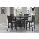 Coaster Jaden 5pc Counter Height Dining Set in Cappuccino 100958S