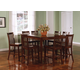 Coaster Pines 9pc Counter Height Dining Set in Walnut 101038WLNS