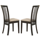 Coaster Brannan Dining Chair in Cappuccino (Set of 2) 101082