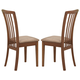 Coaster Brannan Dining Chair in Maple (Set of 2) 101092