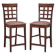 Coaster Counter Height Stool with Wheat Back in Walnut (Set of 2) 101209