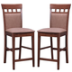 Coaster Counter Height Stool with Cushion Back in Walnut (Set of 2) 101219