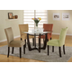 Coaster Bloomfield Round Dining Set in Cappuccino 101490