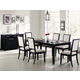 Coaster Louise 7pc Dining Set in Black 101561S