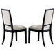 Coaster Louise Side Chair in Black (Set of 2) 101562